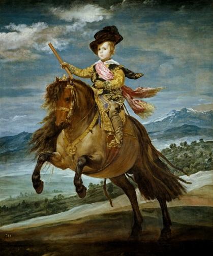 Velázquez, Portrait de l'intant Baltasar Carlos sur son poney, 1634-1635, Museo National del PRado, Madrid