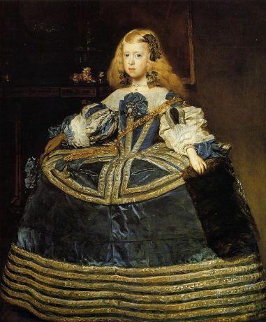 Velázquez, Portrait de l'infante Marguerite en bleu, vers 1659, Vienne, Kunstistorisches