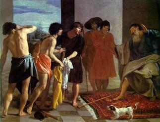 Velázquez, La Tunique de Joseph, Vers 1630, Real Monasterio de San Lorenzo de El Escorial, Madrid