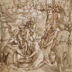 Cesare Nebbia, Saint Jérôme lavant les pieds des pèlerins, Paris, musée du Louvre.