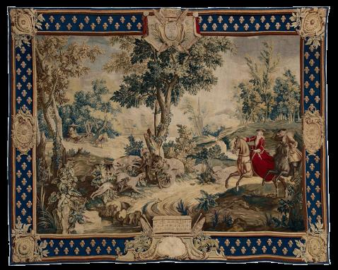 La Chasse au Loup de la Tenture des Chasses Nouvelles, d'après les cartons de Jean Baptiste Oudry