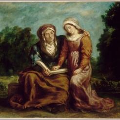 Eugène Delacroix, l'Éducation de la Vierge, huile sur toile, 1842
