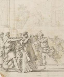 Laurent de La Hyre, Saint Étienne devant le Sanhédrin (détail), Paris, musée du Louvre.