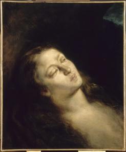 Eugène Delacroix, Madeleine dans le désert, huile sur toile, 1843