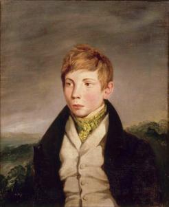 Eugène Delacroix, Portrait d'Auguste-Richard de la Hautière, huile sur toile, 1828
