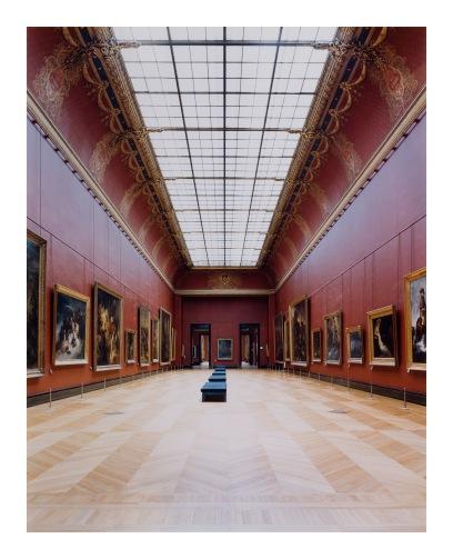 Candida Höfer , Musée du Louvre Paris XVI, salle Mollien, Romantisme, 2005, Photographie couleur, Collection Enea Righi, Italie, et courtesy de l'artiste © ADAGP, Paris, 2015 / photo Antonio Maniscalco