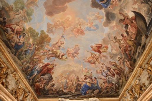 Voûte de la Sala Giordano au Palazzo Medici-Riccardi. © Damien Tellas