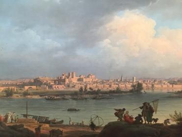 Claude-Joseph Vernet, Vue d'Avignon, de la rive droite du Rhône, près de Villeneuve, 1757 (détail), Paris, Musée du Louvre