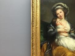 Elisabeth-Louise Vigée Le Brun - Madame Vigée-Le Brun et sa fille (détail)
