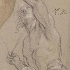 Charles Le Brun, Centaure tirant à l'arc, Vers 1672-1674. Etude pour le décor du pavillon de l'Aurore à Sceaux, Paris, musée du Louvre. © RMN-Grand Palais (musée du Louvre) / Michèle Bellot