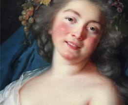Vigée Le Brun, Bacchante, (détail), 1785