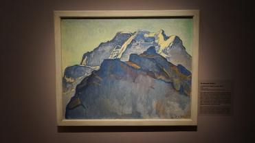 Ferdinand Hodler, Le massif de la Jungfrau vu de Mürren, 1911