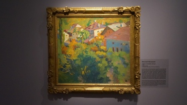 Giovanni Giacometti, Maisons ensoleillées à Stampa, 1912