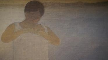 Félix Vallotton, Baigneuse en chemise, vers 1893 (détail)