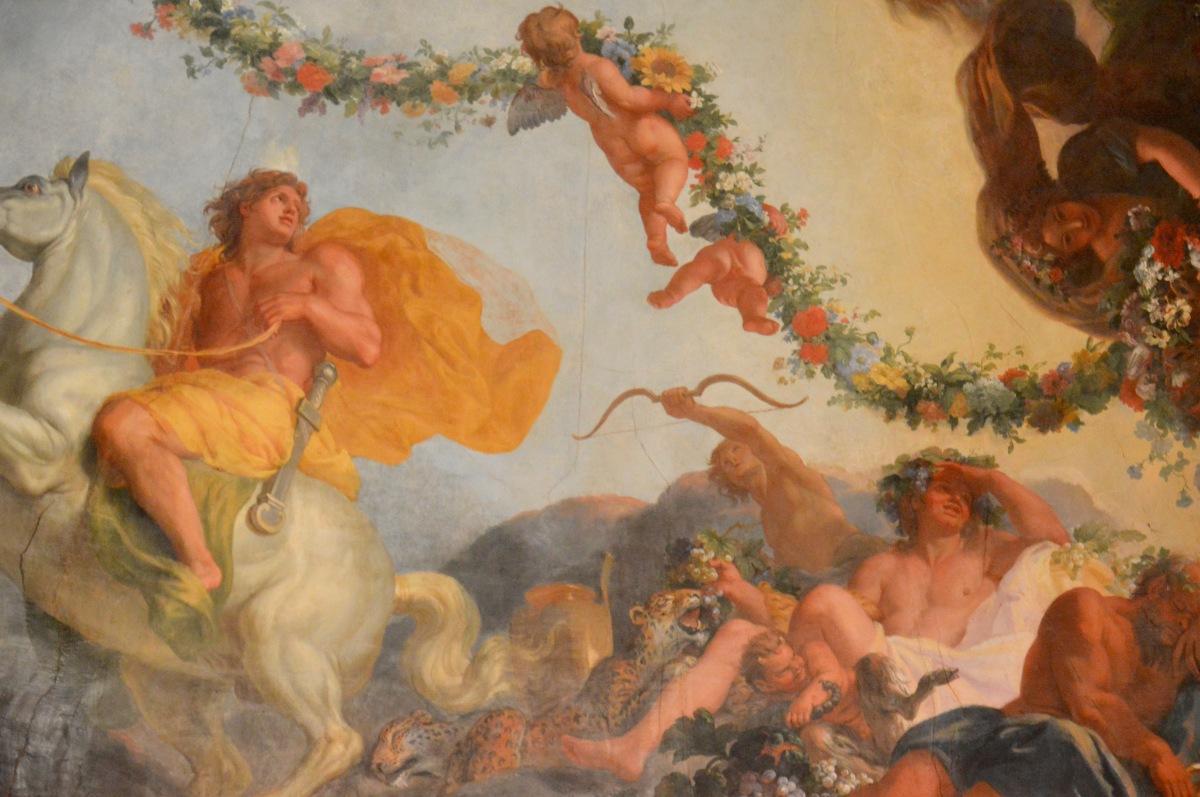 La coupole du pavillon de l'Aurore de Le Brun à Sceaux