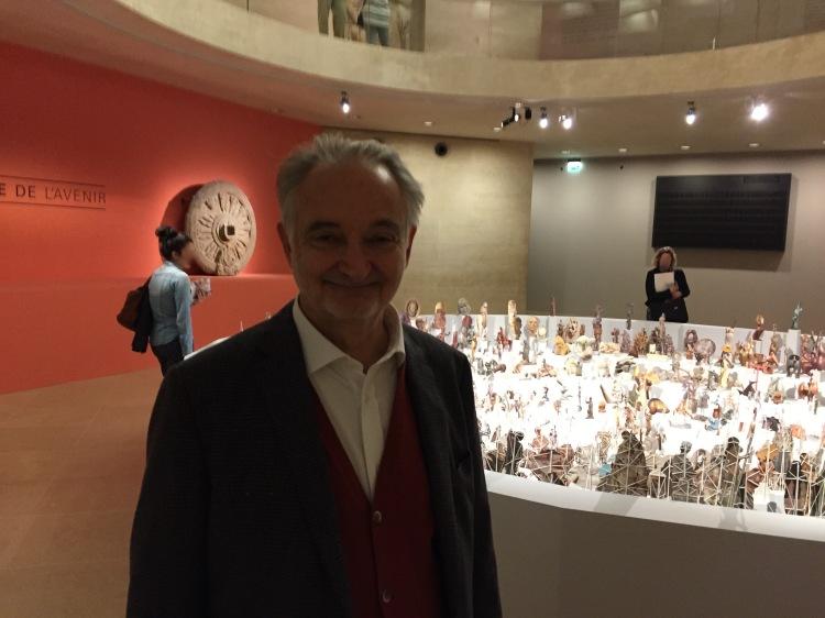 Jacques Attali lors de la présentation presse de l'exposition