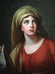 Vigée Le Brun, Lady Hamilton en Sibylle de Cumes (détail), 1792
