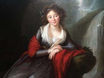Vigée le Brun, La comtesse Anna Potocka (détail), 1791