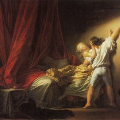 Jean-Honoré FRAGONARD (Grasse, 1732 - Paris, 1806) Le verrou Vers 1777