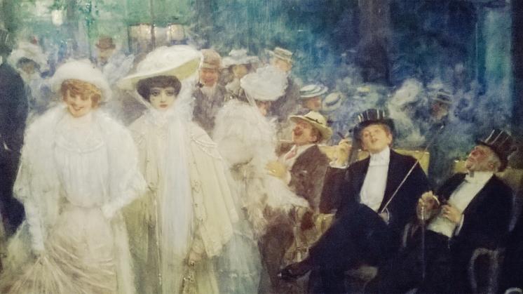 Jean Béraud, Les Belles de nuit (Au Jardin de Paris), 1905 (détail)