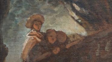 Jean-Honoré Fragonard, Le Jeu de la Palette, vers 1757-1759 (détail)