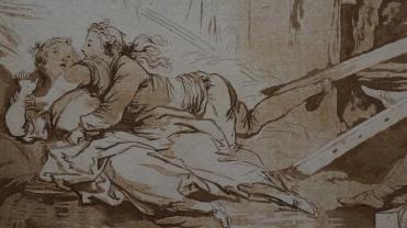 François-Philippe Charpentier, d'après Jean-Honoré Fragonard, La Culbute, vers 1766 (détail)
