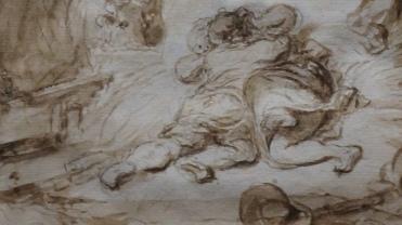 Jean-Honoré Fragonard, L'Etable, vers 1765-1770 (détail)