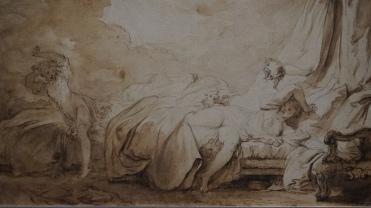 Jean-Honoré Fragonard, Les Pétards (détail)