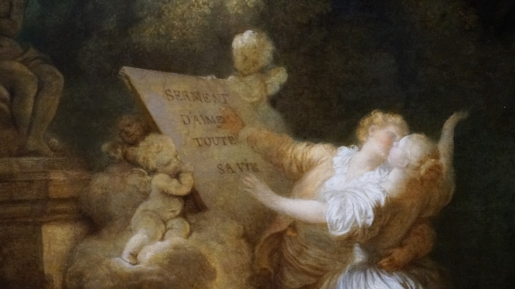 Jean-Honoré Fragonard, Le Serment d'amour, vers 1780 (détail)
