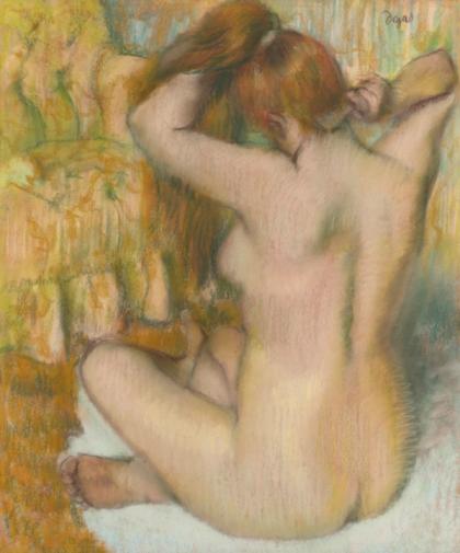 Edgar Degas Femme nue de dos, se coiffant, 1886-88