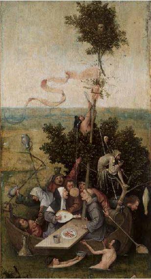 Jérôme van AKEN dit Bosch, Allégorie de la gourmandise, dite La Nef des fous (Après restauration)