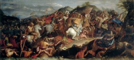 Charles Le Brun, Le Passage du Granique, huile sur toile, 1665, 4,70 cm x 12,09 cm, Paris, musée du Louvre.