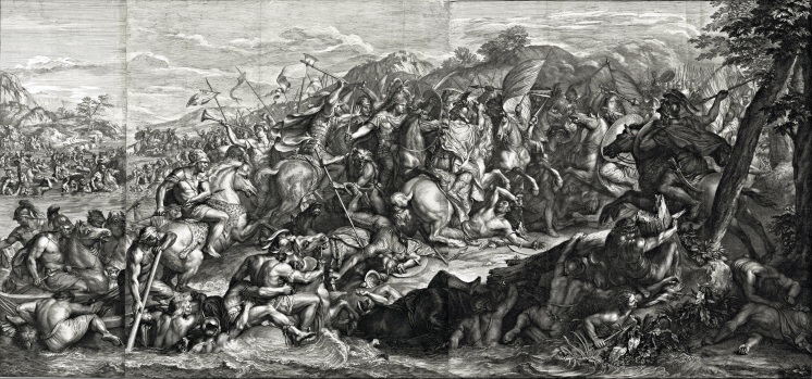 Girard Audran, d'après Charles Le Brun, Le Passage du Granique (détail), 1672, eau-forte et burin, 70 x 137,6 cm, Los Angeles, Getty. © J. Paul Getty Trust.