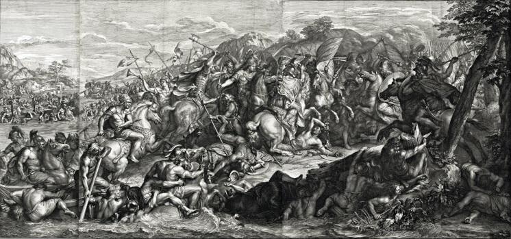 Girard Audran, d'après Charles Le Brun, Le Passage du Granique (détail), 1672, eau-forte et burin, 70 x 137,6 cm, Los Angeles, Getty. © J. Paul Getty Trust.