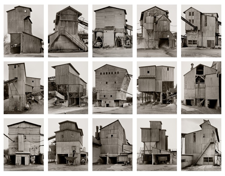 Bernd and Hilla Becher, Kies- und Schotterwerke (Gravel Plants), 1988-2001 Courtesy The Walther Collection and Sonnabend Gallery