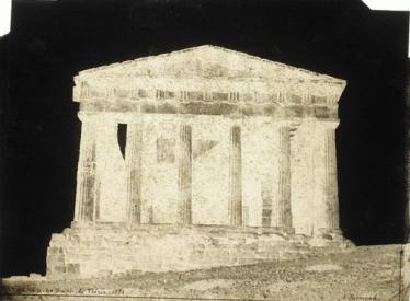 Alfred-Nicolas Normand, Athènes, le temple de Thésée, 1851, négatif, papier ciré sec