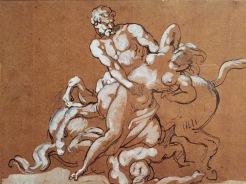 Théodore Géricault, Un centaure enlevant une femme devant un autre centaure à terre, 1816-1817