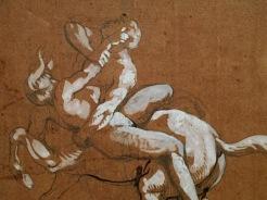 Théodore Géricault, Un centaure enlevant une femme, 1816-1817
