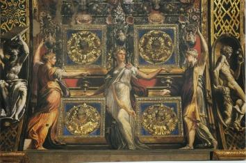 Parmigianino, intrados de l'arc triomphal (détail), Parme, Santa Maria della Steccata.