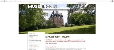 Le message initial sur le site officiel du musée / capture d'écran du vendredi 11 décembre 2015