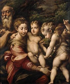 Parmigianino, La Sainte Famille, Madrid, Museo Nacional del Prado.