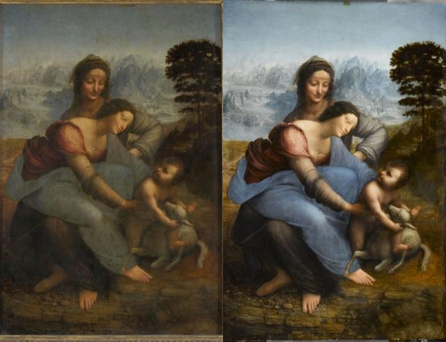 Léonard de Vinci, Sainte Anne, la Vierge et l'Enfant