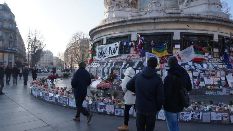 Place de la République, janvier 2016