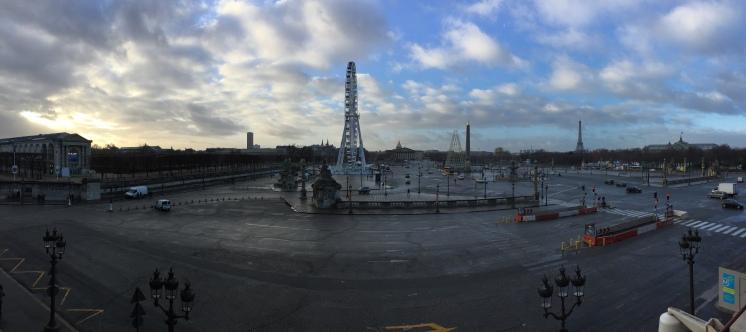 Vue panoramique sur la place de la Concorde