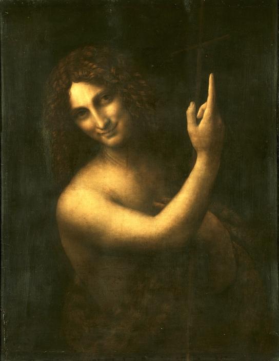 Léonard de Vinci, Saint Jean-Baptiste, vers 1508-1519, huile sur bois, 73 x 56,5 cm., Paris, musée du Louvre.