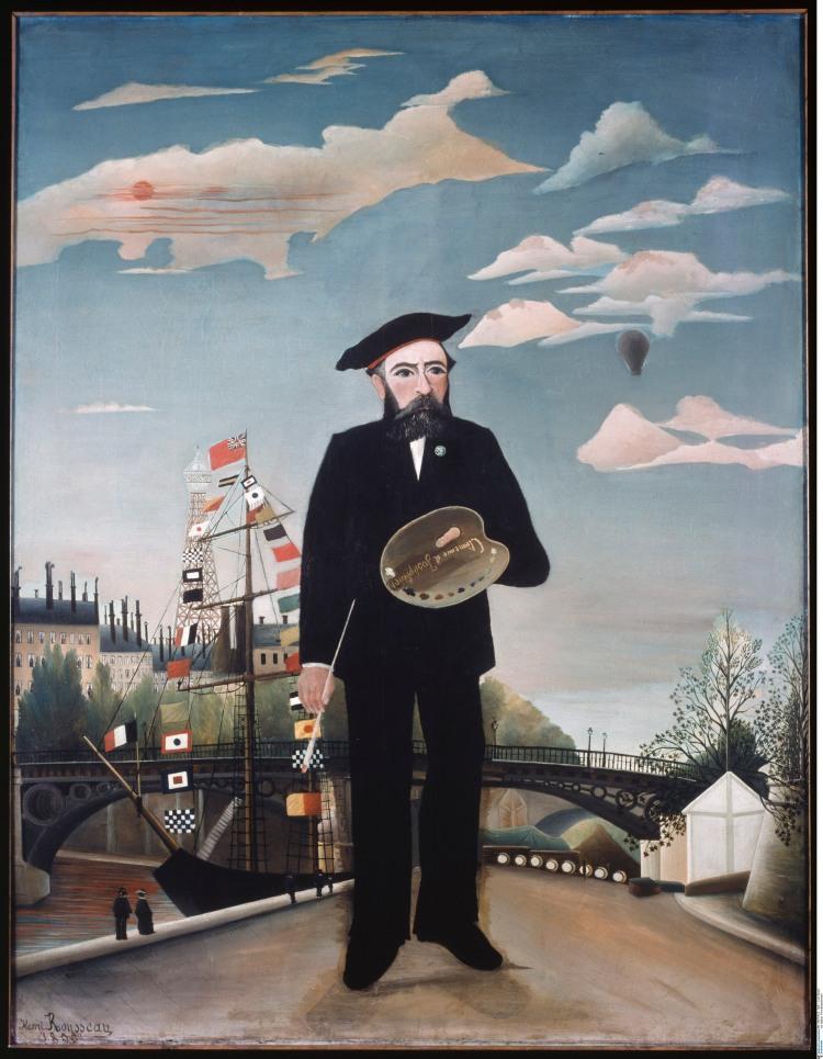 Henri Julien Félix Rousseau, dit Le Douanier Rousseau, Moi-même, Portrait-Paysage, 1889-1890 / Prague, Národni galerie v Praze © BPK, Berlin, Dist. RMN-Grand Palais / Lutz Braun