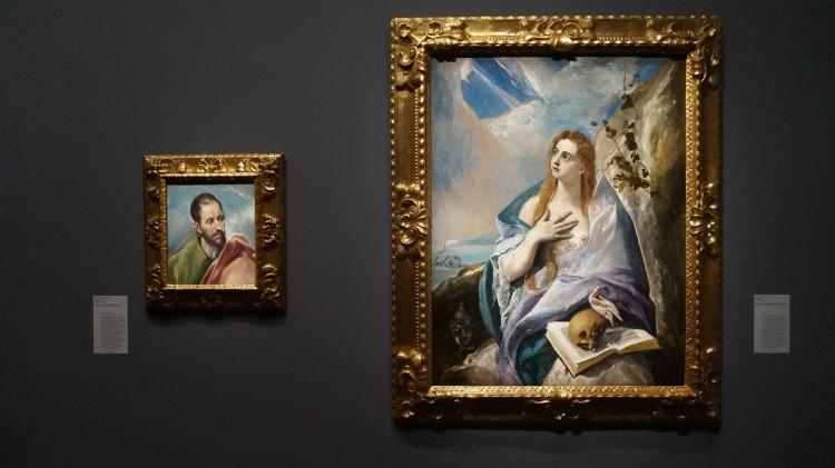 Doménikos Theotokopoulos, dit Greco, Saint Jacques le Mineur, entre 1585 et 1590 (fig. gauche) et Marie Madeleine pénitente vers 1576 (fig. droite)