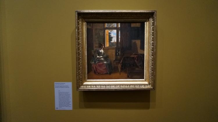 Pieter de Hooch, Femme lisant une lettre devant la fenêtre ouverte, 1664