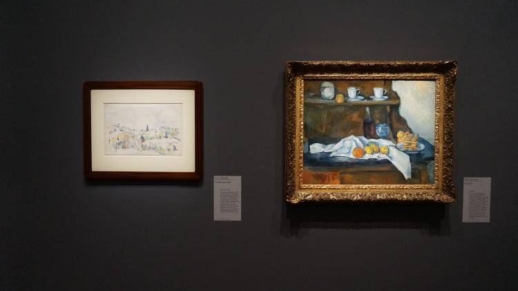 Paul Cézanne, Paysage provençal, entre 1895 et 1900 (fig. de gauche) et Le Buffet, 1877-1879 (fig. de droite)