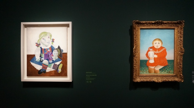 Pablo Picasso, Maya à la poupée, 1938 et Henri Julien Félix Rousseau, dit Le Douanier Rousseau, L'Enfant à la poupée, 1904-1905